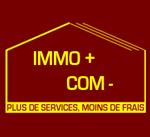 Logo Immo plus com moins -