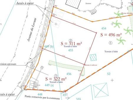 Vendre terrain Vergèze  188 000  €