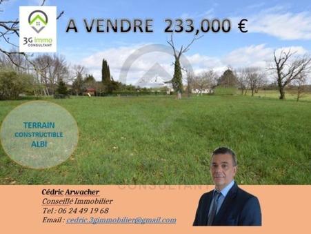 Vends terrain ALBI  233 000  €