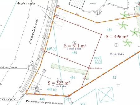 Vente terrain Vergèze  188 000  €