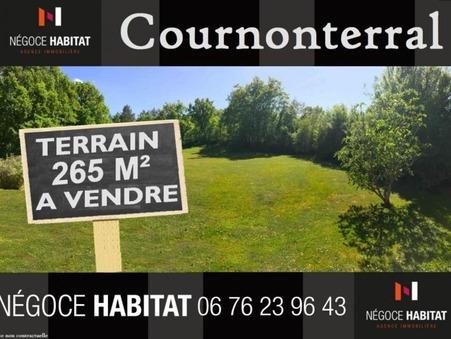 vente terrain cournonterral 265m2 137000€