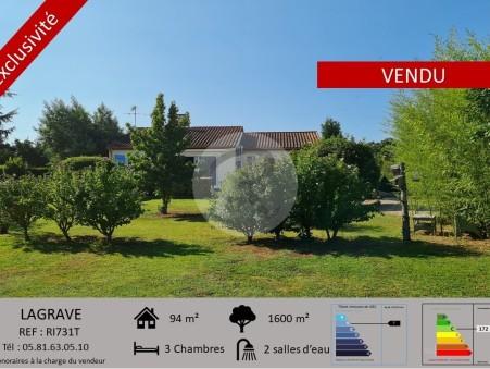 Vends maison LAGRAVE  274 000  €