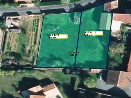 vente terrain BIGNOUX 0m2 68000€