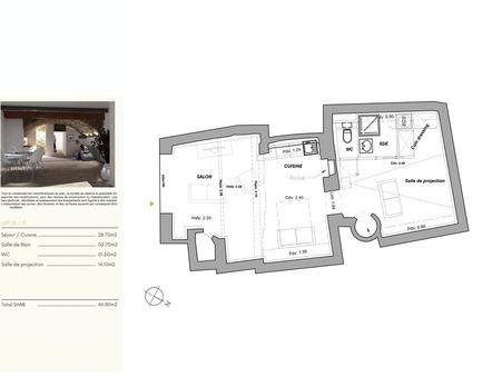 Vente loft MONTPELLIER 46 m²  219 000  €
