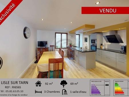 Vends maison LISLE SUR TARN  166 000  €