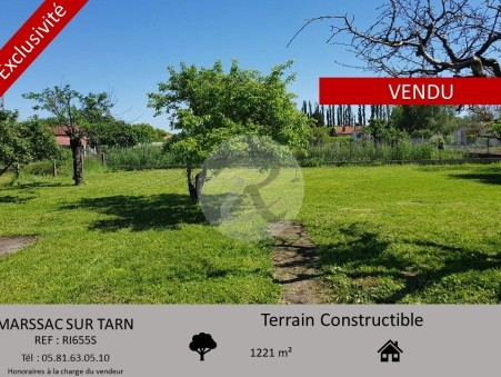 Achat terrain Marssac sur tarn  105 000  €