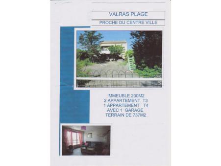 Vends maison Valras plage  365 000  €
