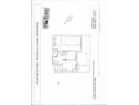 vente appartement SUPER BESSE 36m2 118000€