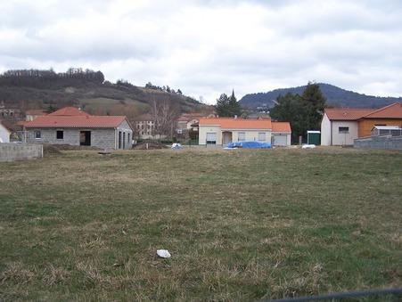 vente terrain ROSIERES 886m2 31000€