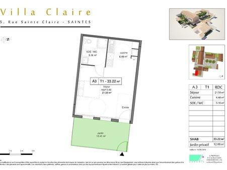 Vends appartement SAINTES  102 982  €