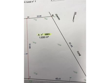 vente terrain NOUAILLE MAUPERTUIS 1830m2 77000€
