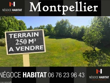 vente terrain montpellier 250m2 172000€