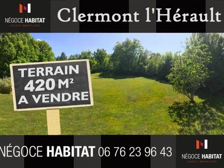 vente terrain clermont l herault 104000 €
