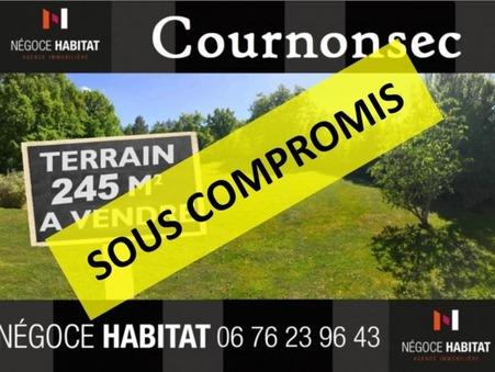 vente terrain cournonsec 245m2 142000€