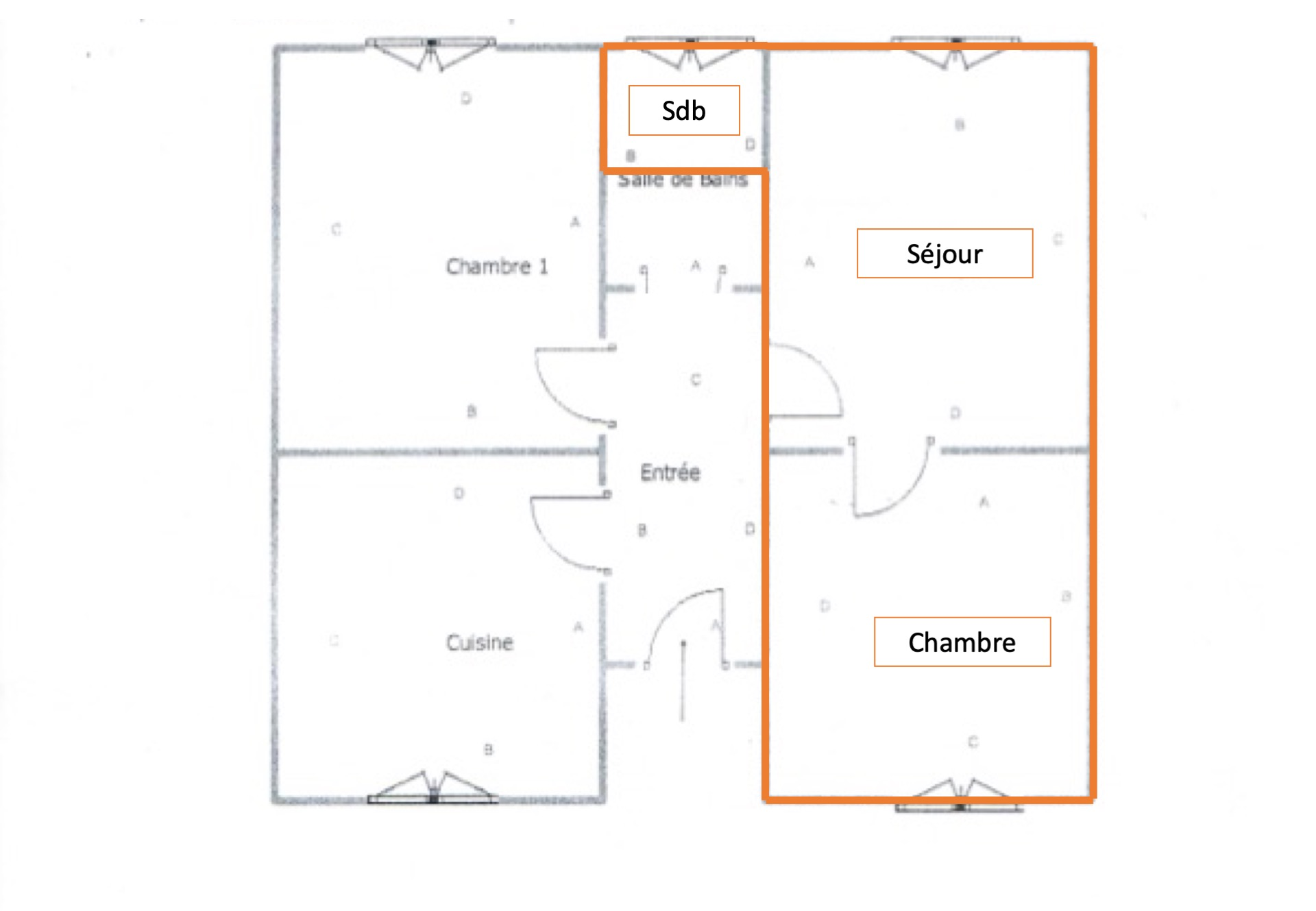 vente appartement 2 pièces EPINAY SUR SEINE 93800