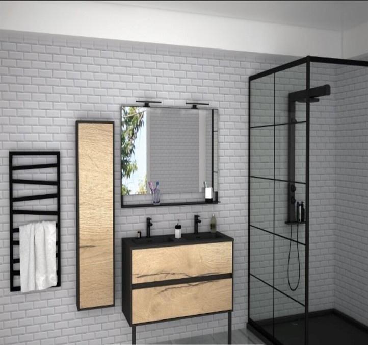 Maison neuve meuble avec vasque double blois