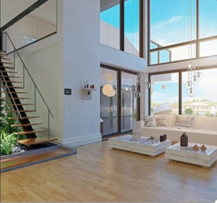 Maison neuve intérieur menuiseries aluminium blois