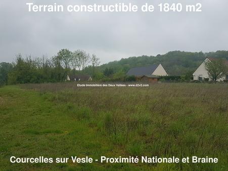 Vente Terrain COURCELLES SUR VESLES Réf. 8797 - Slide 1