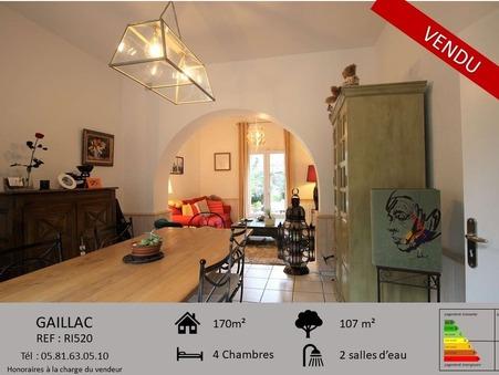 Maison sur Gaillac ; 239000 €  ; A vendre Réf. RI520