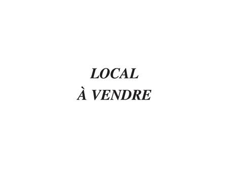 vente professionnel Saint-Gence 42m2 35500€