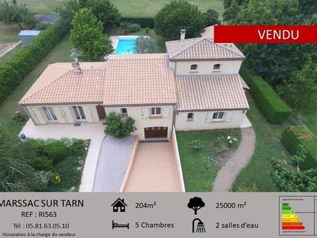 Maison 380000 €  Réf. RI563 Marssac sur Tarn