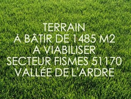 Terrain 50000 € Réf. 8826 Fismes