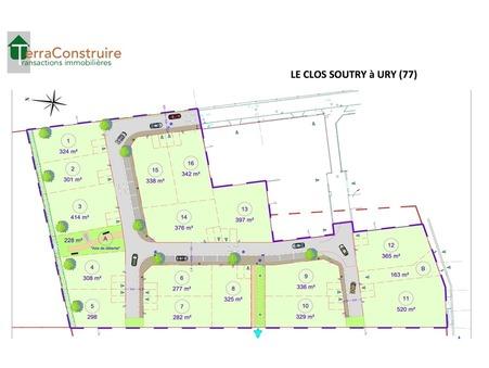 Vente Terrain URY Réf. URY lot 6 - Slide 1