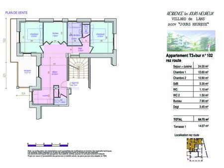vente appartement VILLARD DE LANS 64.87m2 212000€