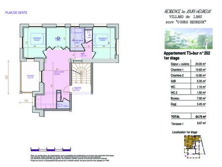 Vente maison VILLARD DE LANS 64.76 m²  225 000  €
