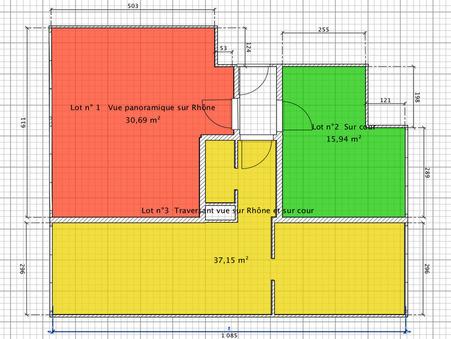 vente appartement LYON 4EME ARRONDISSEMENT 32m2 139000€
