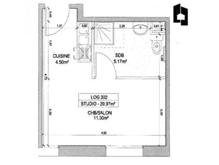 Acheter appartement massy 20 m²  131 800  €