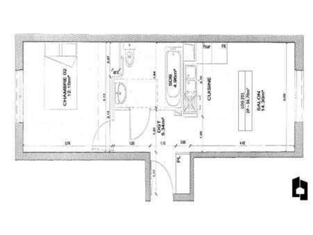 vente appartementMassy 36m2 0€