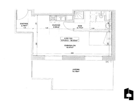 vente appartementMASSY 30.89m2 0€