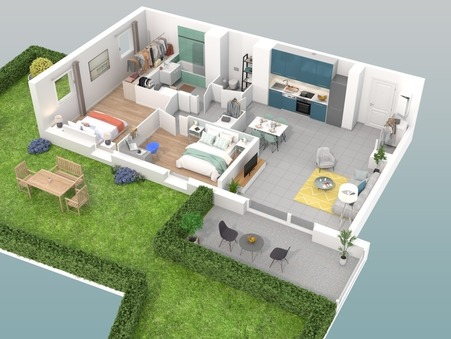 vente appartement VILLEURBANNE 80.77m2 370000€