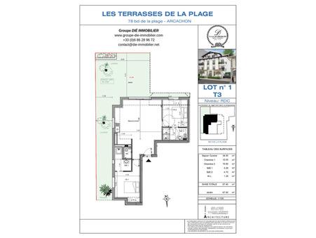 Vente Appartement ARCACHON Ref :1094-1 - Slide 1
