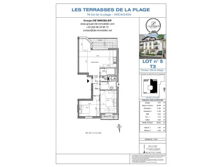 Vente Appartement ARCACHON Ref :1094-5 - Slide 1