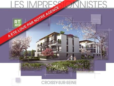 location appartement CROISSY SUR SEINE 61.06m2 1245€